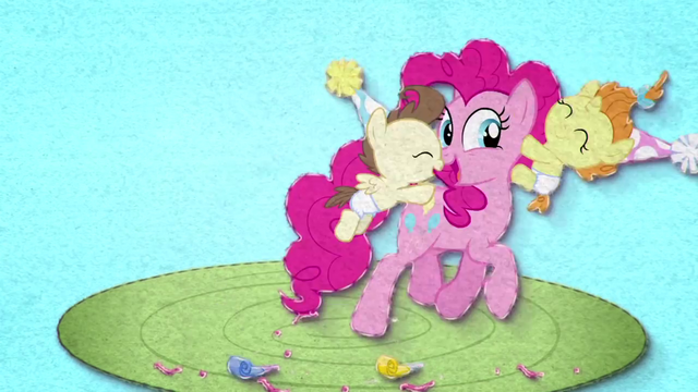 File:Pinkie Pie having fun with Pound and Pumpkin BFHHS2.png