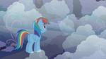 Rainbow Dash looking into the fog S1E02