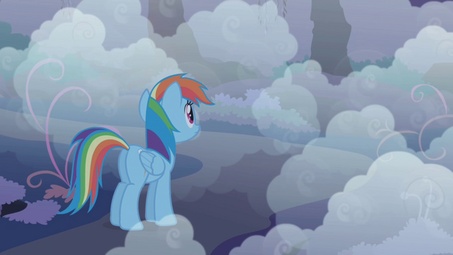 File:Rainbow Dash looking into the fog S1E02.png