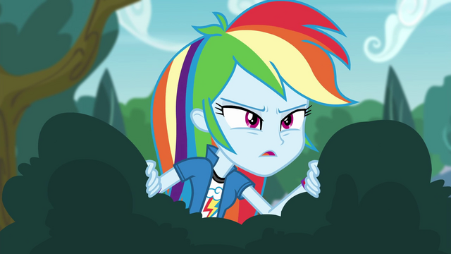 File:Rainbow Dash tries to get a view EG3.png