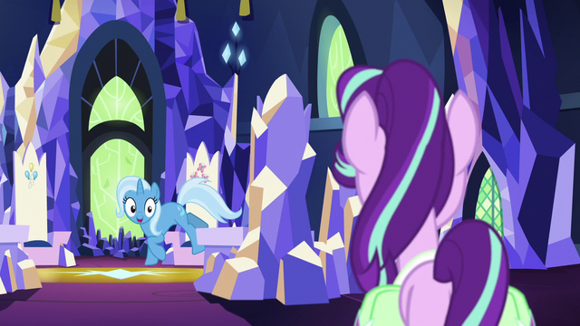 File:Trixie jumping out of Twilight's throne S7E2.png