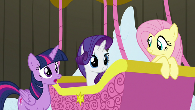 File:Twilight, Rarity, and Fluttershy ready to leave S7E11.png