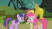 "Twilight and Pinkie ""the princess can handle it"" S1E10"