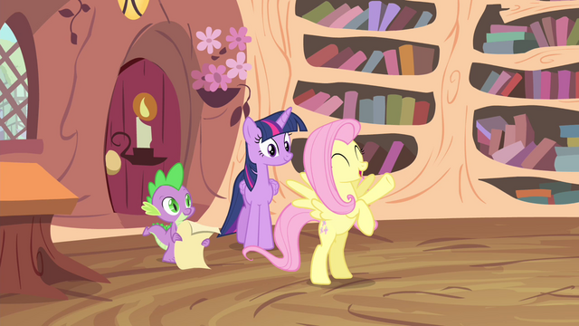 File:Fluttershy 'it just might be the best news ever!' S4E11.png
