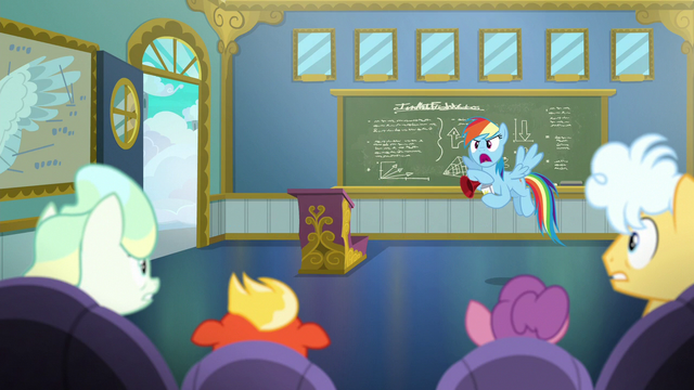 "File:Rainbow Dash ""wake up, newbies!"" S6E24.png"