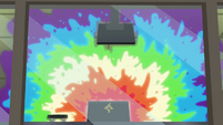 Rainbow colored splat EG3