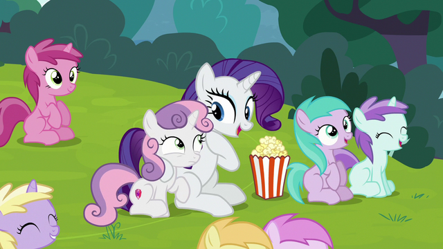 "File:Rarity ""it's just like old times!"" S7E6.png"