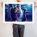 Shadows art print wide WeLoveFine