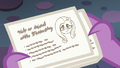 Spike reads Starlight's lesson card about Fluttershy S6E21.png