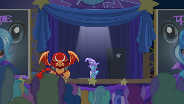 """File:Trixie """"the Great and Powerful Trixie will be performing"""" S6E6.png"""