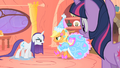 Applejack and Rarity daring back and forth S1E08.png