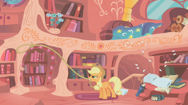 File:Applejack throwing pillows S01E08.png