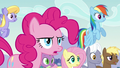 Pinkie asks Applejack if she knows Coloratura's cutie mark S5E24.png