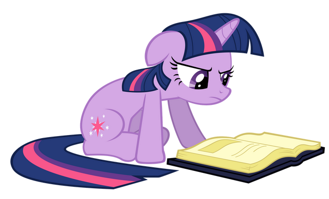 File:FANMADE Twilight Sparkle reading a book vector.png