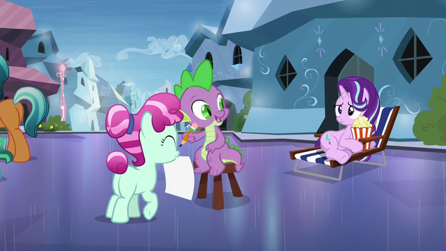 """File:Spike """"nervous about seeing Sunburst"""" S6E1.png"""