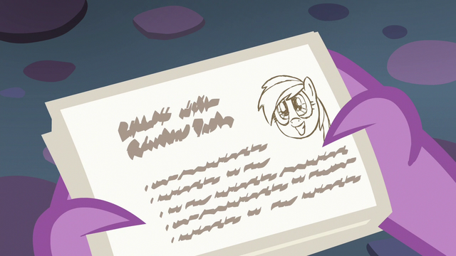 File:Spike reads Starlight's lesson card about Rainbow Dash S6E21.png