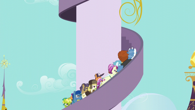 File:Angry delegates storm up the tower steps S5E10.png