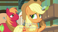 Applejack thinking for a moment S7E13