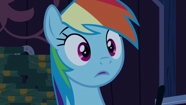 File:Rainbow Dash reduced to stuttering S6E15.png