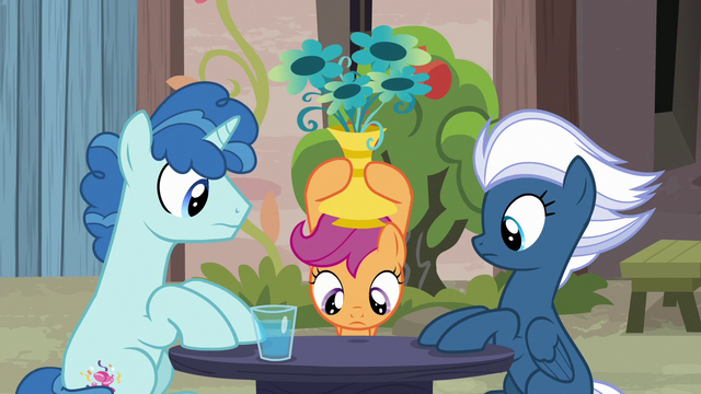 File:Scootaloo looking for Big Mac under a vase S7E8.png
