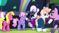Countess Coloratura gives hoofsie to Rainbowshine S5E24.png