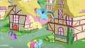 Fluttershy and Rainbow return to Ponyville S6E11.png