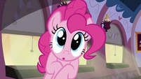 Pinkie Pie looks at the cake S2E24