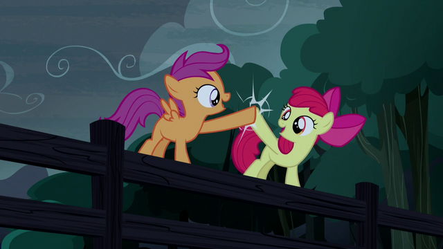 File:Apple Bloom and Scootaloo hoof-bump S5E6.png