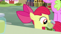 Apple Bloom putting pear jam in her bag S7E13.png