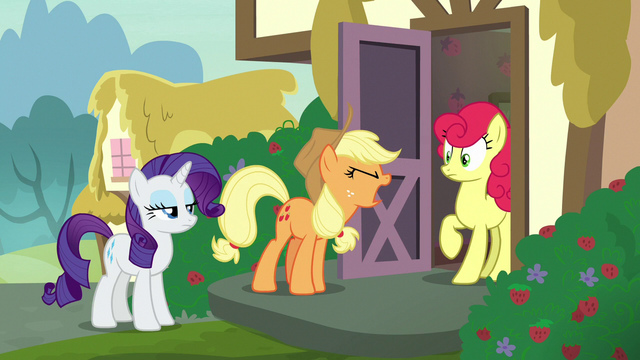 File:Applejack demands an apology from Strawberry S7E9.png