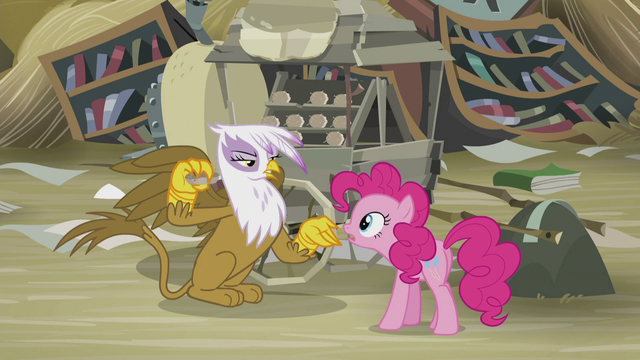 File:Gilda demands bits from Pinkie S5E8.png