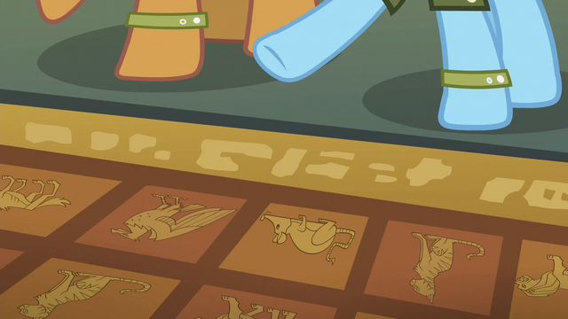 File:Rainbow pointing to model floor tiles S6E13.png