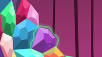 Purple jewel placed by magic S5E10