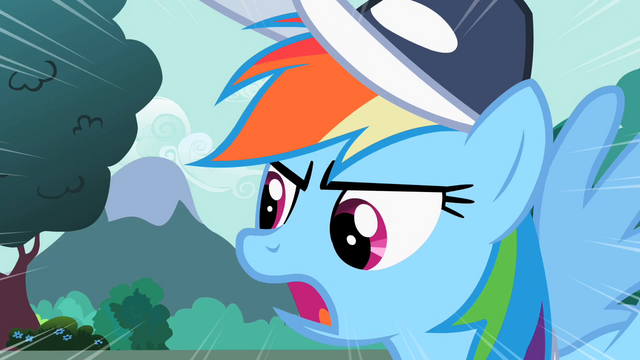 "File:Rainbow Dash ""Step up your game!"" S2E07.png"