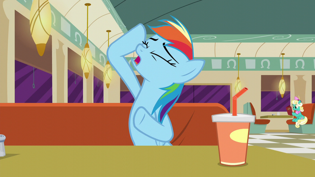File:Rainbow Dash imitating Rarity S6E9.png