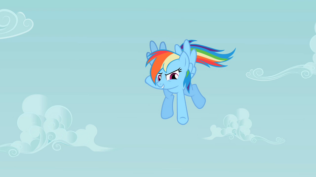 File:Rainbow Dash pointing down S2E08.png