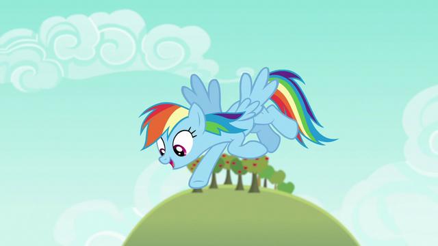 "File:Rainbow says ""gotcha!"" to Big McIntosh S6E15.png"