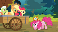 Scrapbook going into Pinkie's mane S4E09