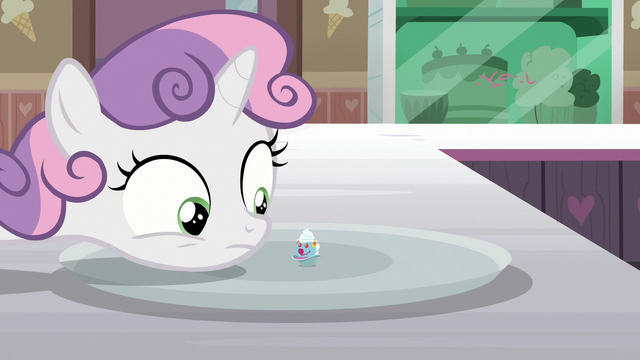 File:Sweetie Belle looks at Filly Clown Surprise S7E6.png