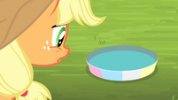 Applejack looking at pan of water S4E20