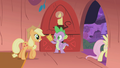 Applejack with her ticket S01E03.png