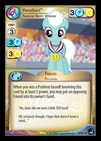 File:Fleetfoot, Natural Born Winner card MLP CCG.jpg