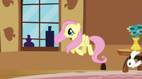 Fluttershy looking out the window S3E10