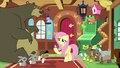 Fluttershy surrounded by her animal friends S7E5.png