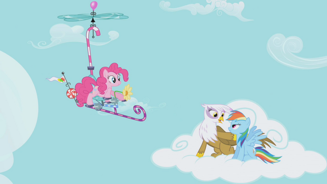 File:Pinkie Pie catches up to Rainbow Dash and Gilda with a flying contraption S1E05.png