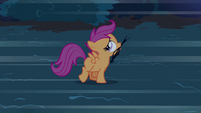 Scootaloo running with the branches S3E06