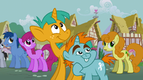 Snips and Snails looking at Rainbow Wobble S3E5