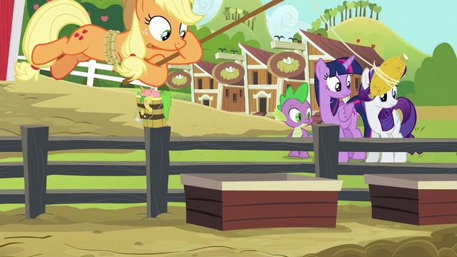 File:Applejack luring pigs with corn S6E10.png