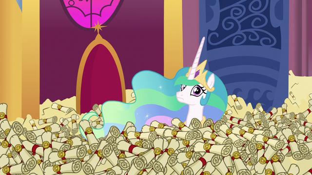 File:Princess Celestia in a sea of scrolls S6E15.png