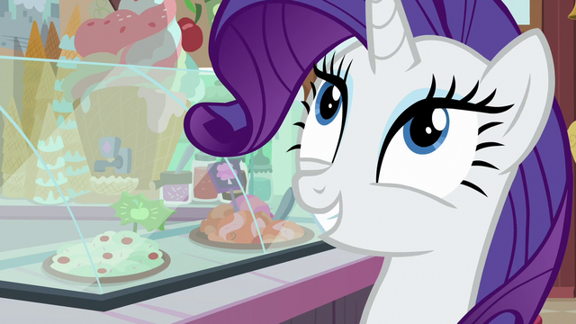 """File:Rarity """"chocolate with rainbow sprinkles"""" S7E6.png"""